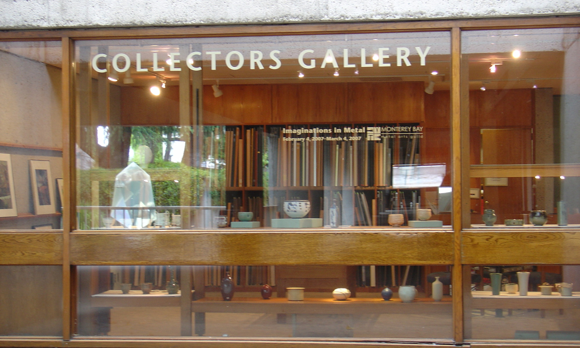 Windows of the Collector's Gallery at the CA Museum of Oakland