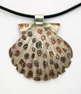 Shell pendant made by Jerry Blanchard