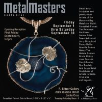 details of the artists who will be exhibiting in the small metals sculpture show at Blitzer Gallery