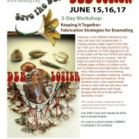 details of Deb Lozier enameling workshop